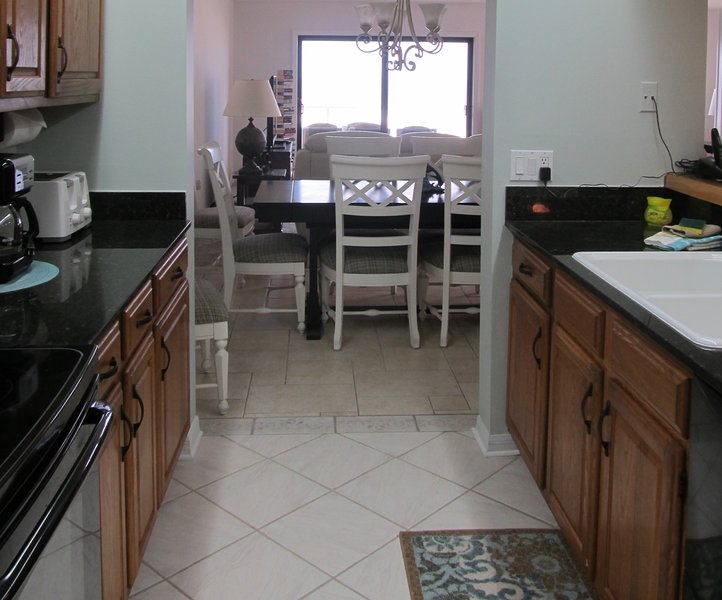 Kitchen leading to dining Room