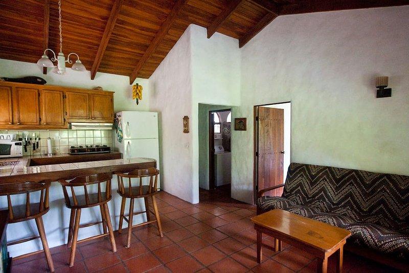 Comfortabele open keuken en woonkamer