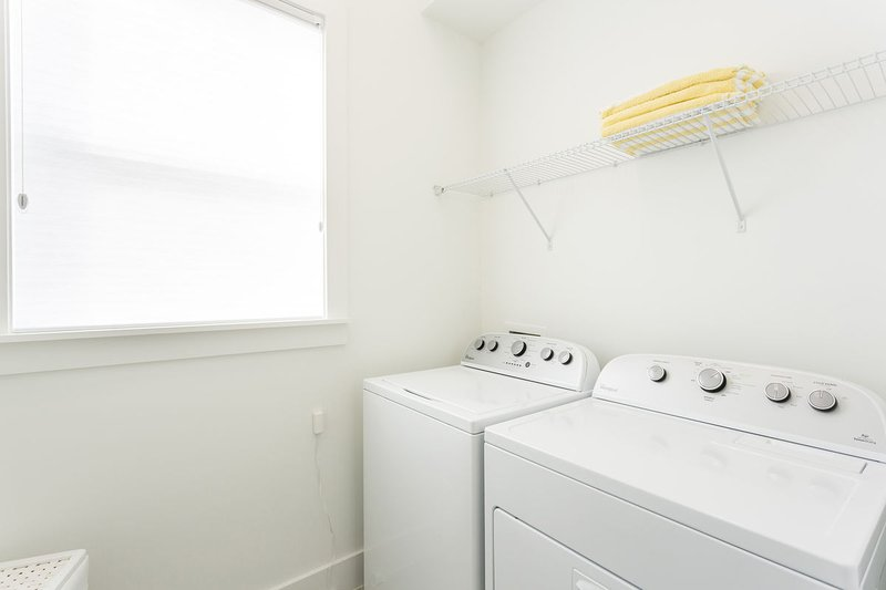 Full sized washer and dryer
