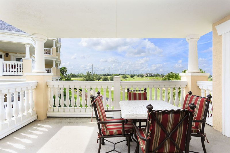 Private balcony over looking the golf course