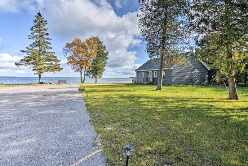 Visit Mackinac Island from this vacation rental studio on Lake Huron!