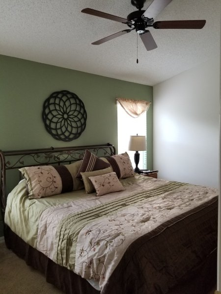 Master Bedroom #1 with ceiling fan