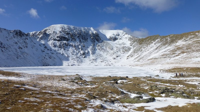 Helvellyn and Red Tarn in Winter - a must see!