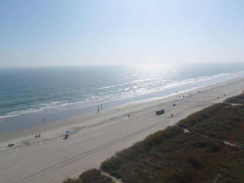 Södra och Norra kusten linje utsikt från balkongen
