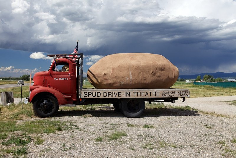 Watch a movie at the classic Spud Drive-In Theater, only minutes away!