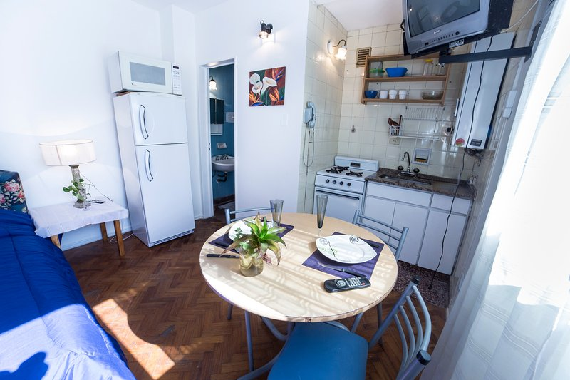Small Studio in one of the most beautiful areas of the City of Buenos Aires.