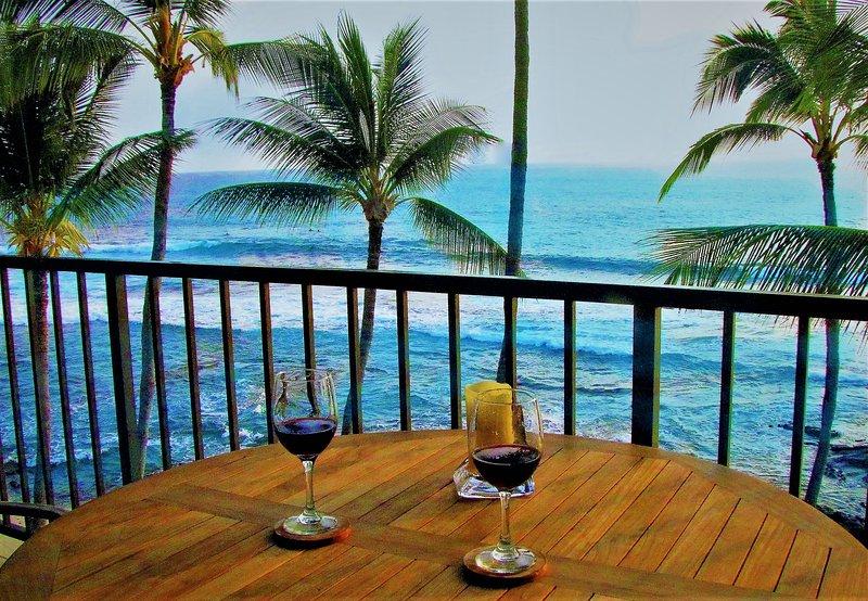 Belle vue du balcon privé.