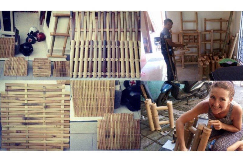 Apprenez l'art de la sculpture, le tissage, et des meubles de construction en bambou dans notre atelier chez l'habitant
