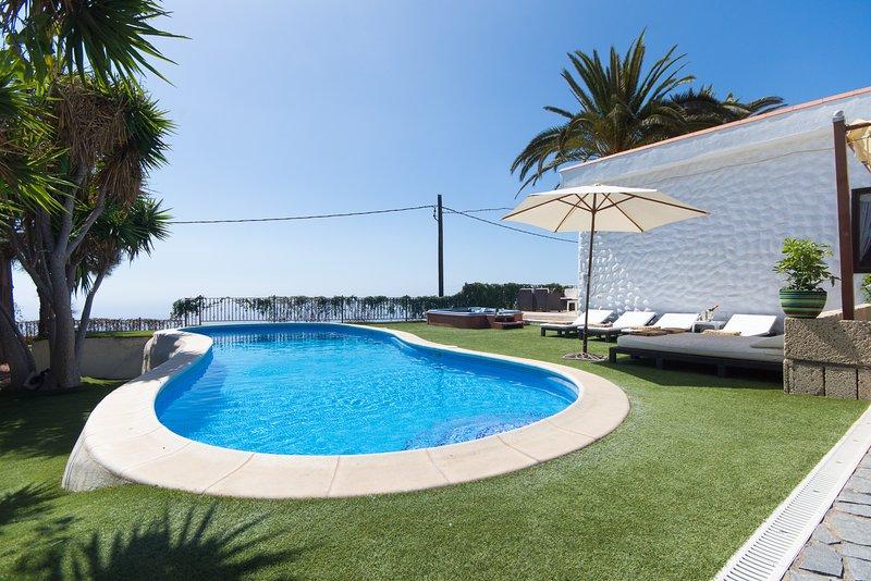 Private heated pool.