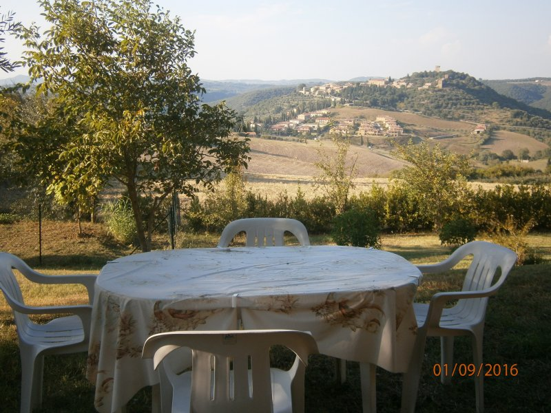 view from the garden of Monticchiello