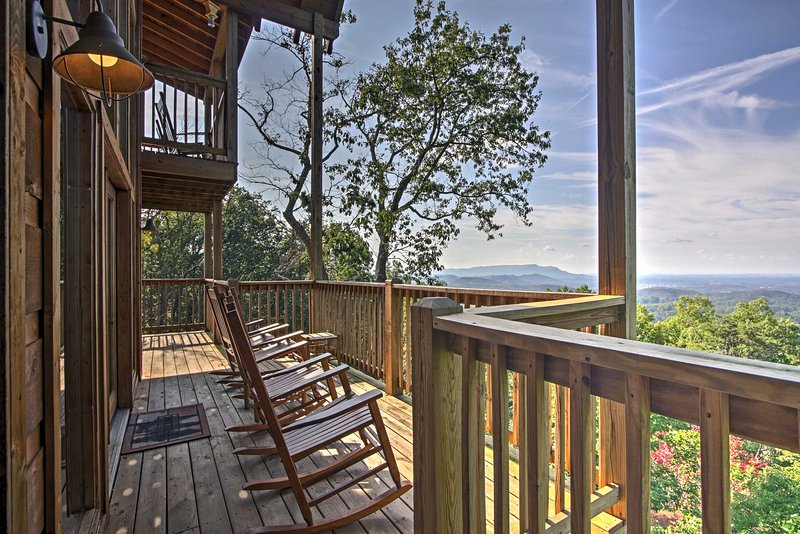 Retreat to the Smoky Mountains at this vacation rental cabin in Sevierville!