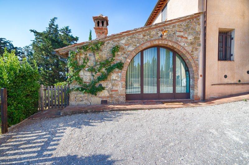 Appartamento Casaglia in the countryside of San Gimignano, vakantiewoning in Ulignano