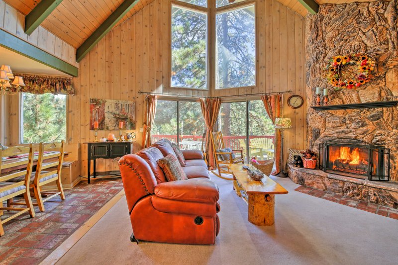 Find the best kept secret of the West Coast at this vacation rental home in Lake Arrowhead.