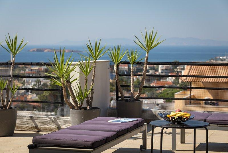 Villa Ira - Spacious Villa-apartment with sea view, on top of a pine-hill, location de vacances à Voula