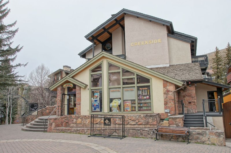 This building is among Vail Village's best restaurants & shops.
