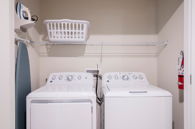 latest technique washer and dryer along with iron