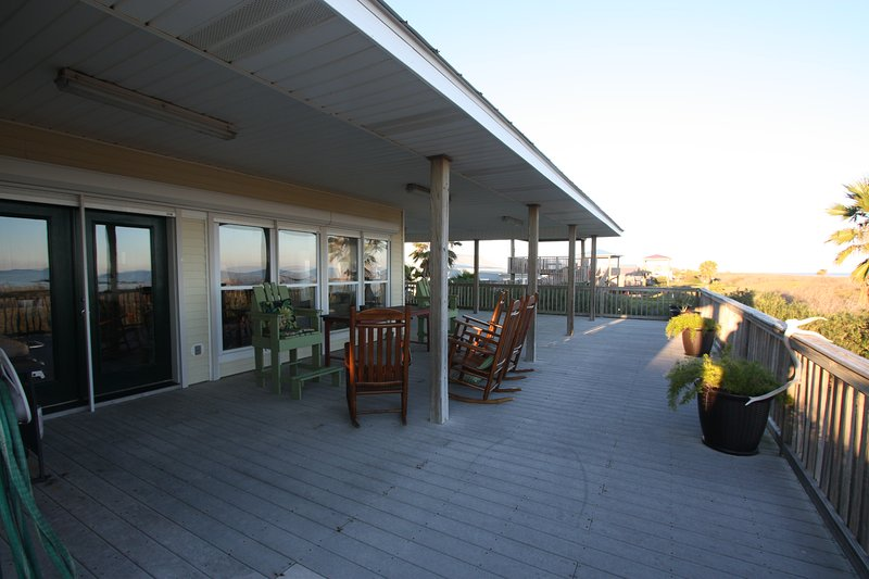 Beach side deck