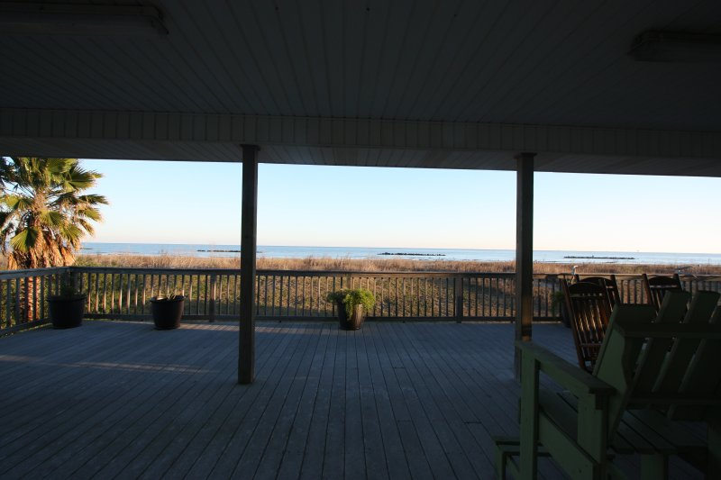 Beach side deck view