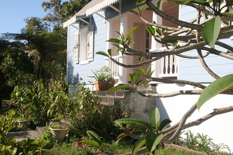 Den typiska trädgården är gröna året runt.