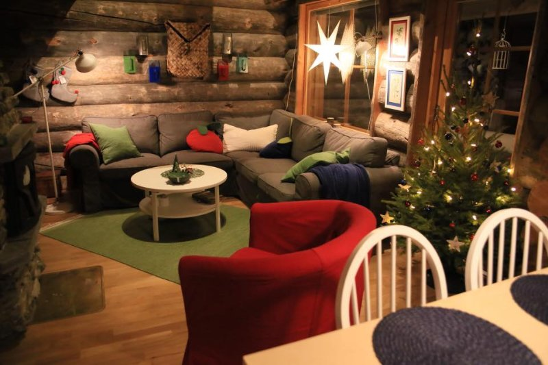 Get the real Christmas feeling in The Berrystay cabin.