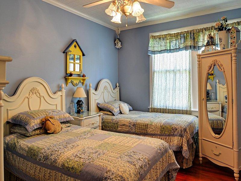 Twee aparte bedden in de tweede slaapkamer