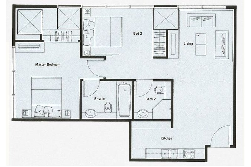 70 msq. Apartments Layout