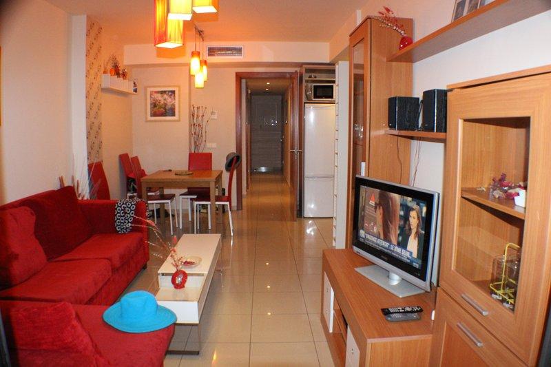 Klimatisiertes Apartment mit Meerblick in Roses mit Pool Strand 100 m
