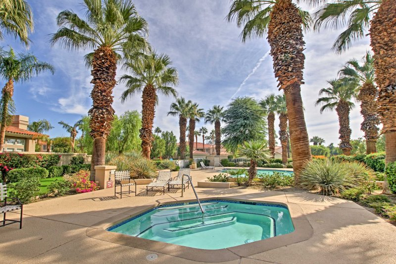 Access any of the 3 pools and hot tubs on the property!