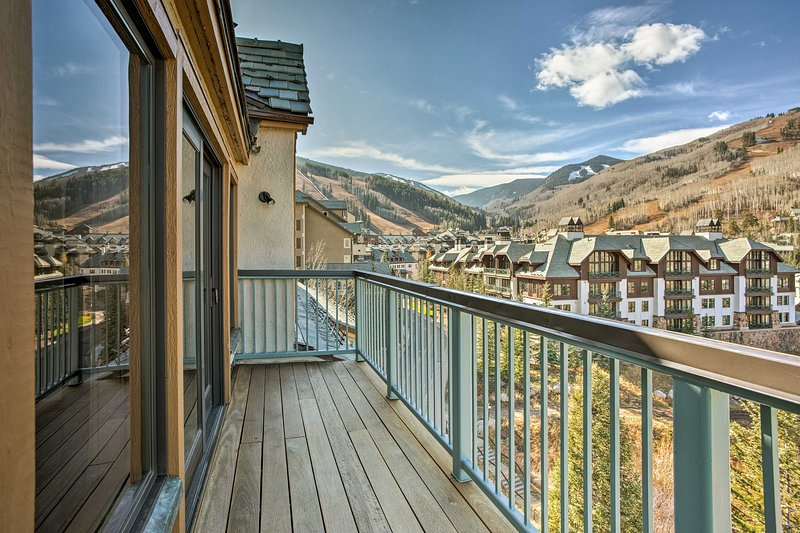 Enjoy unobstructed, penthouse views from this luxurious vacation rental condo in Beaver Creek.