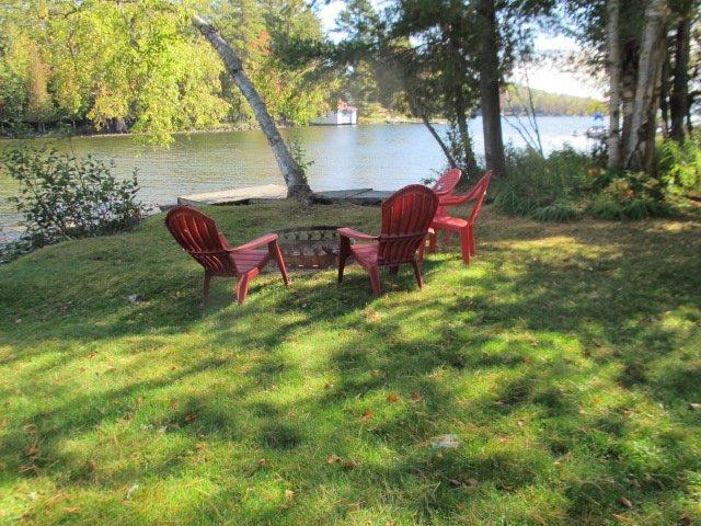 Lake side lawn area