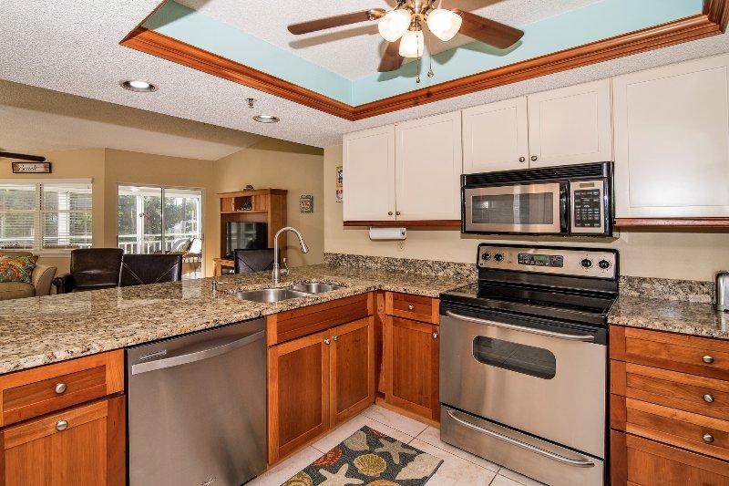 Cozinha olhando para Grande quarto