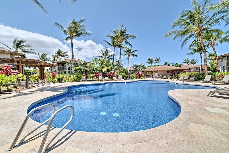 Escápate a esta casa adosada de alquiler de 3 habitaciones y 2.5 baños en Waikoloa.