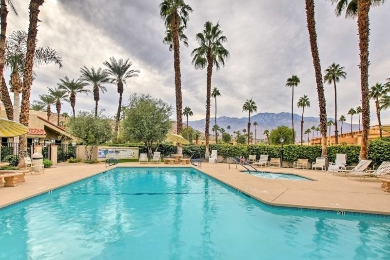 Spend your days lounging by the community saltwater pool.