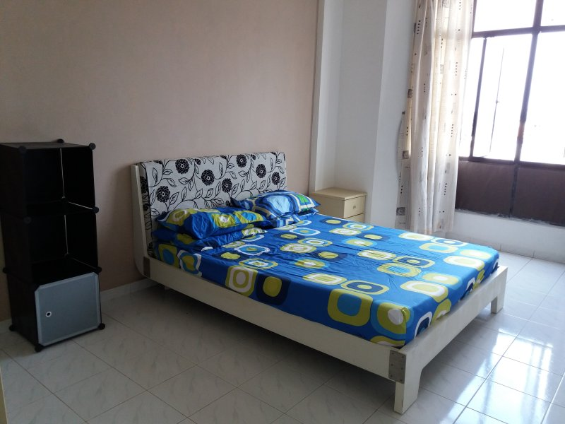 main bedroom with attach bathroom/aircon and sea with local area view