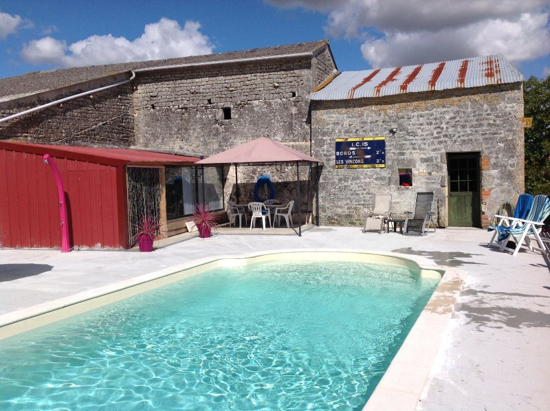 Our heated pool, perfect for cooling off after a day exploring our beautiful region