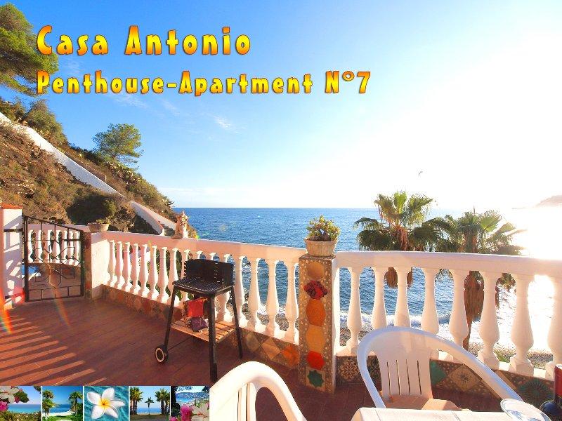 1: a raden takvåning strand lägenhet med fantastisk havsutsikt