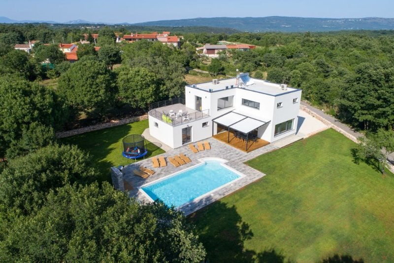 Villa Danica, modern vila surrounded by woods, holiday rental in Bratulici