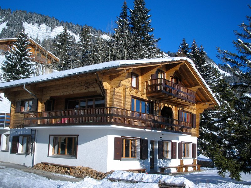Outstanding chalet for groups, south facing, breathtaking views - all year round, vacation rental in Grimisuat