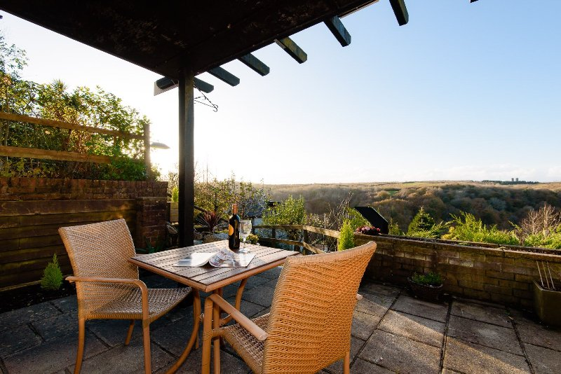 Fine views over the river and estuary which can be enjoyed from the  terrace