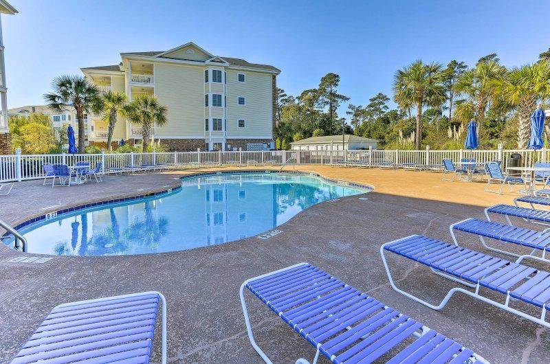 Descubra Myrtle Beach a partir deste 3 quartos, 2 banho condomínio de férias!