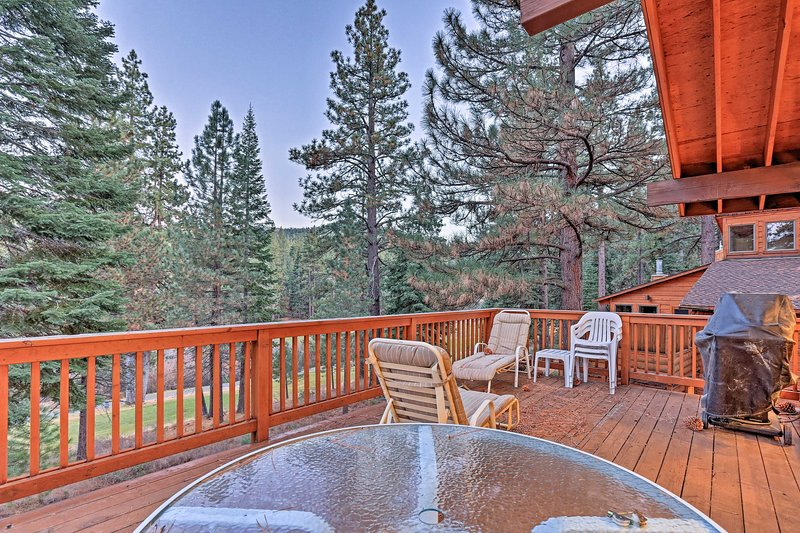 Find a cozy cabin in the heart of NorthStar Resort when you book this vacation rental cabin in Truckee.