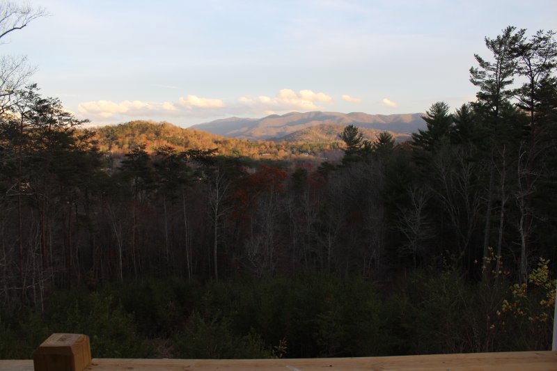 View from covered deck.