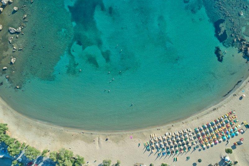 One of the beaches nearby, Agioi Apostoloi beach (3 km).