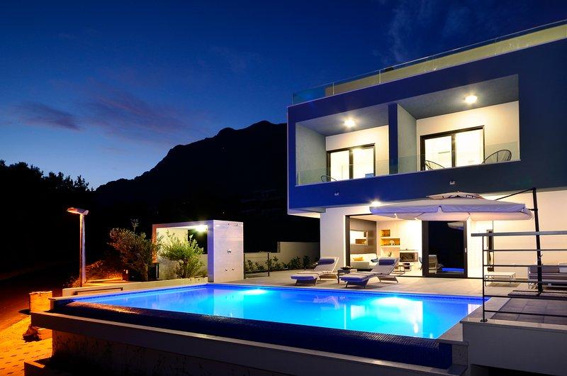 Villa Nina Makarska with heated infinity pool of 33 m2 and stunning sea views, vacation rental in Veliko Brdo