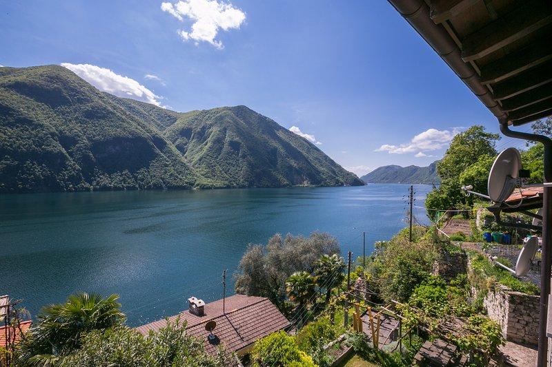 Vue imprenable sur le lac de Lugano