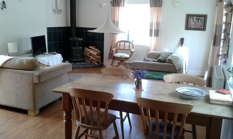 Comfortable open plan living space upstairs taking advantage of the beautiful views.