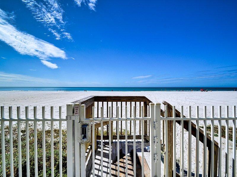 Ahh.. The white sands beach of Redington Shores awaits you.