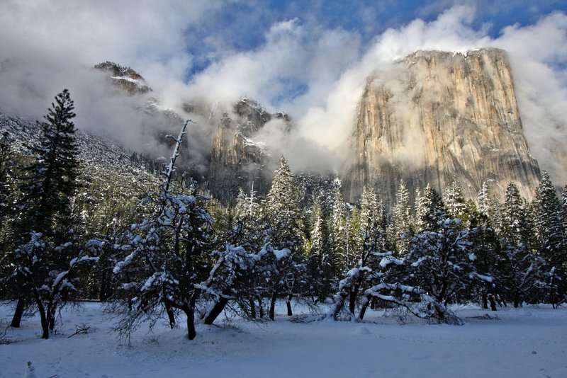 Yosemite is beautiful in the winter