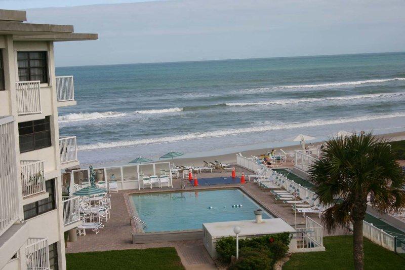 Enjoy ocean views of the car free beach.