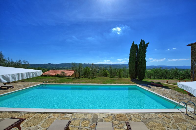 Bucine Villa Sleeps 18 with Pool Air Con and WiFi - 5241503, vacation rental in Levane